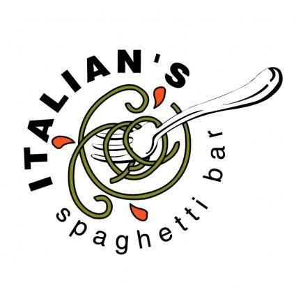 free vector Italians spaghetti bar