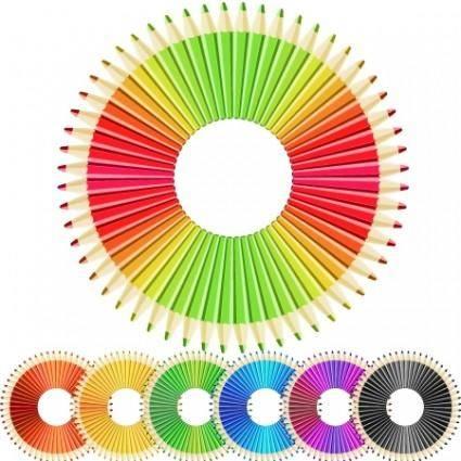 free vector Crazy pencils