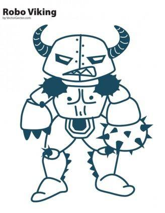 free vector Robo Viking Vector