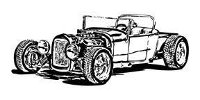 free vector Free Model T hot rod vector