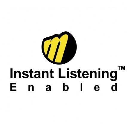 free vector Instant listening enabled