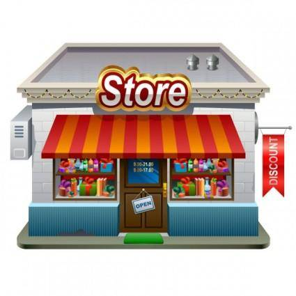 Small shops model 01 vector