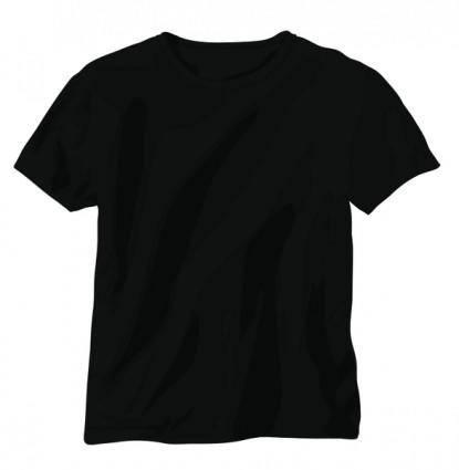 free vector Black Vector T-Shirt