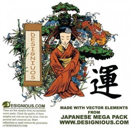 free vector Japanese illustration vectors