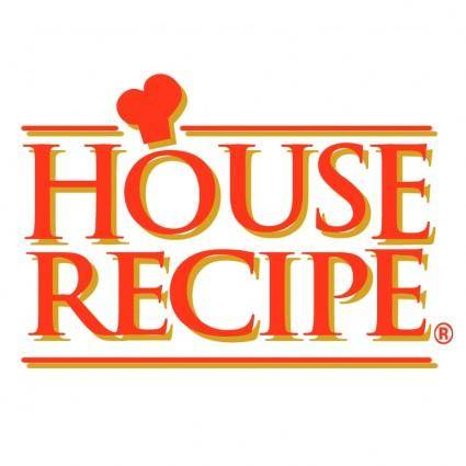 free vector House recipe