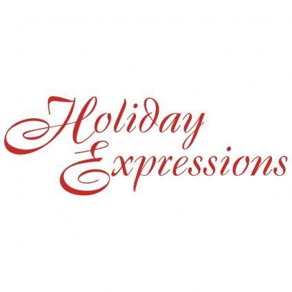 free vector Holiday expressions