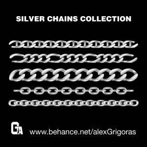 free vector Silver Chains Vector Collection