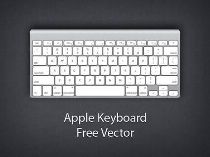 free vector Apple wireless keyboard