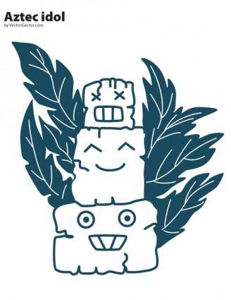 free vector Aztec Idol Vector