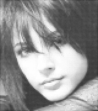 free vector Halftone Face Vectors