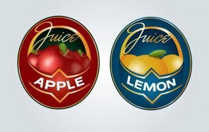free vector Juice Label Logo