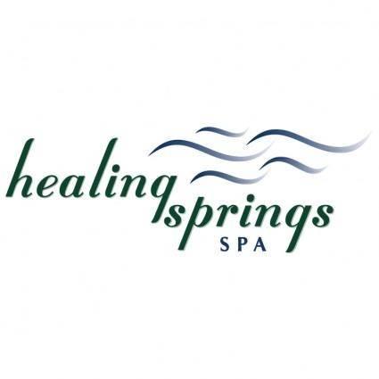 free vector Healing springs spa