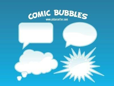 free vector Comic Bubble Vectors
