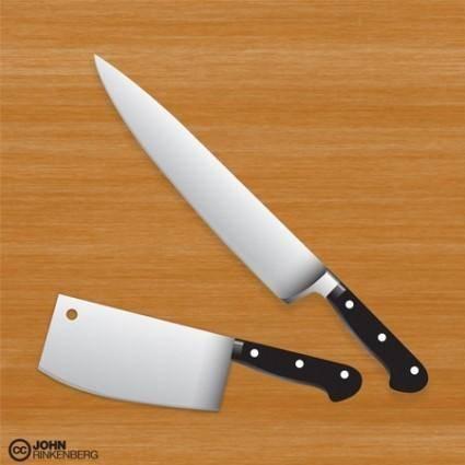 free vector Premium Chef / Butcher Knife Vector Set