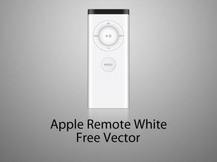 Apple remote white version (old) vector