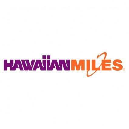 free vector Hawaiianmiles