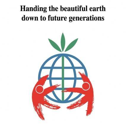 Handing the beautiful earth
