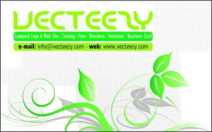 free vector Green Business Card Template