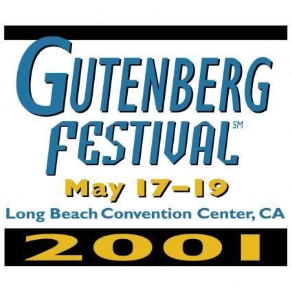 free vector Gutenberg festival