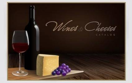 free vector Wines and Cheeses Catalog