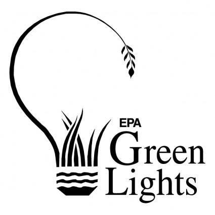 free vector Green lights
