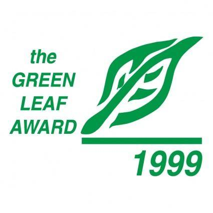 free vector Green leaf award