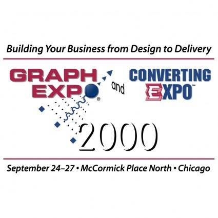 free vector Graph expo and converting expo 2000