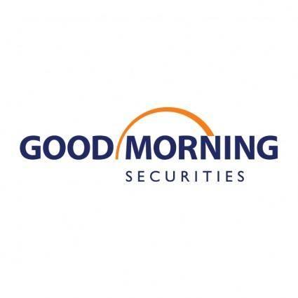 free vector Good morning securities