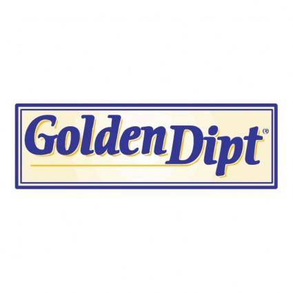 free vector Golden dipt