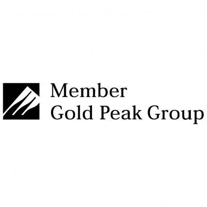 free vector Gold peak group