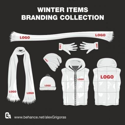 free vector Winter Items Vector Collection