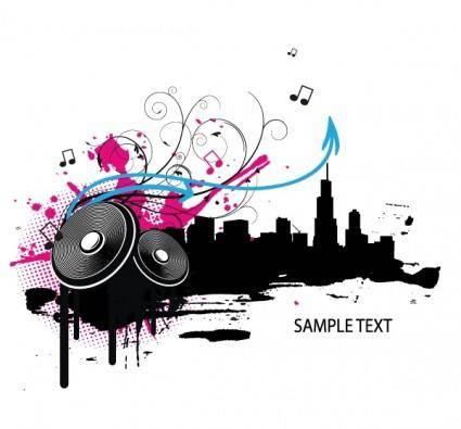 free vector Music illustration