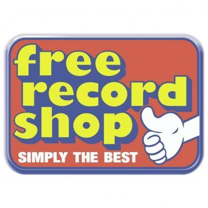 free vector Free record shop 0