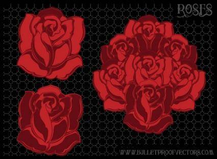 free vector Vector Roses