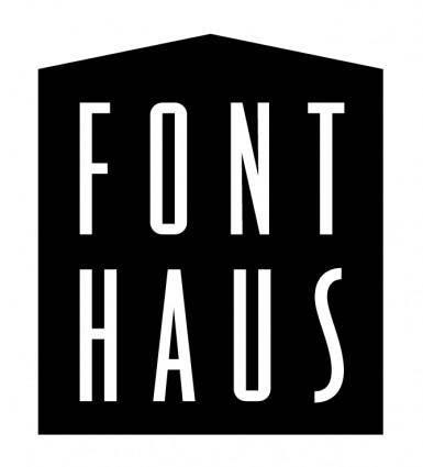 free vector Font haus