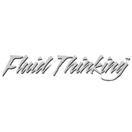 free vector Fluid thinking