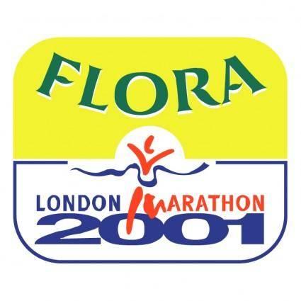 free vector Flora london marathon