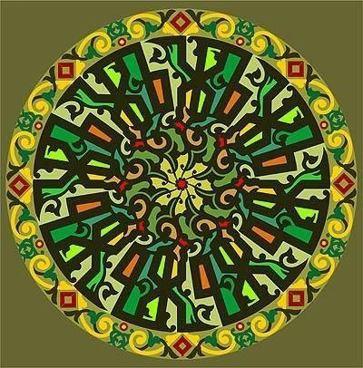 free vector Free moslem circular calligraphy Allah