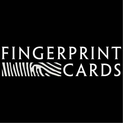 free vector Fingerprint cards