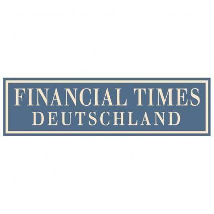 free vector Financial times deutschland