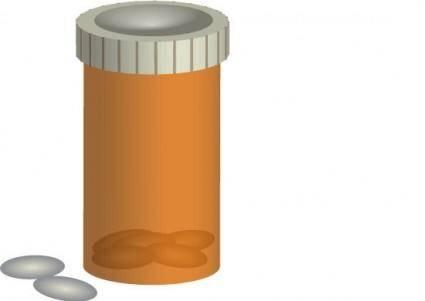 free vector Pill Bottle Vector