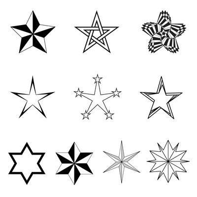 Free Vector Stars Pack