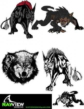 free vector Free Hellhound Wolf Vector