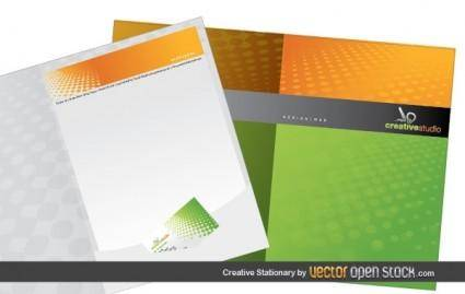 free vector Creative Stationary Template