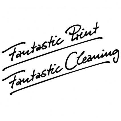 free vector Fantastic print fantastic cleaning