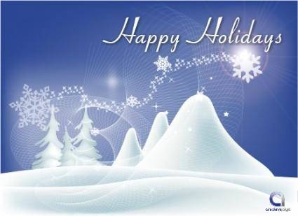free vector Vector Happy Holidays Wallpaper