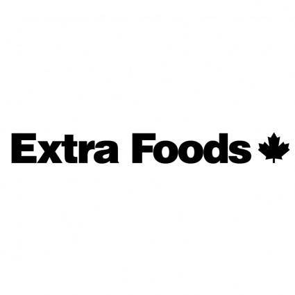 free vector Extra foods