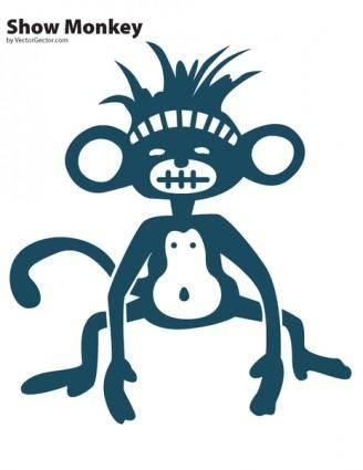 free vector Show Monkey Vector