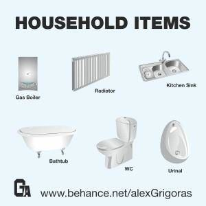 free vector Household Items Collection