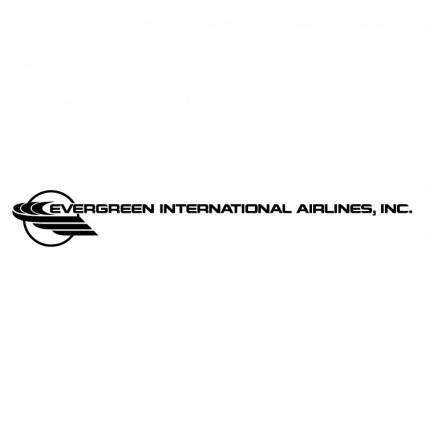 free vector Evergreen international airlines
